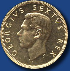 South Africa, 1 Pound Georg VI, rs. Springbock, 1952 - RAR!