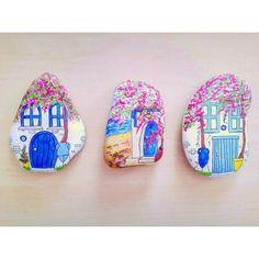 Minik evlerim #bodrum #tasboyama #paint #rockart #happyfriday #hobby #homeart