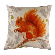 Evans Lichfield Wrap Squirel Repeat Cushion