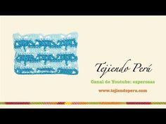 Punto fantasía # 46 tejido a crochet: V en dos colores - YouTube