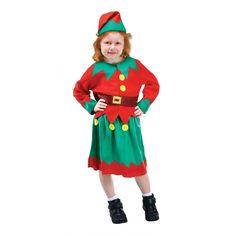 Child Little Green Helper Girls Fancy Dress Costume Xmas Elf Christmas Joker Costume, Elf Costume, Animal Masks For Kids, Mask For Kids, Mardi Gras, Christmas Fancy Dress, Full Body Costumes, Hoodie Pattern, Mask Party