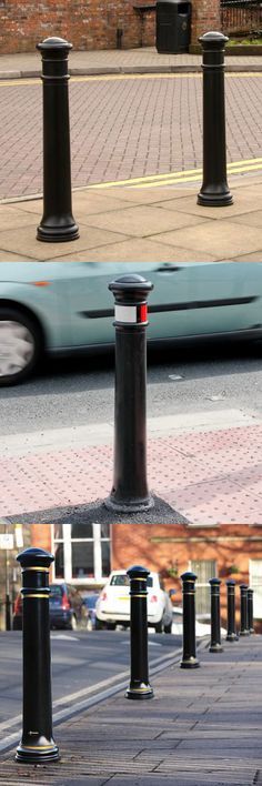 Glasdon Manchester™ Bollard - This heritage style bollard is ideal for schemes in traditional town centres. Great for traffic calming schemes in heritage areas, this is a low-maintenance alternative to high maintenance cast iron bollards. #GlasdonUK #Bollards #Heritage #RoadSafety  #HighwaysSafety