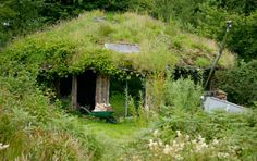 'That Roundhouse', Brithdir Mawr, Pembrokeshire, Wales  Homes don't get much greener than 'That Roundhouse' built by Tony Wrench. Made of wood, a straw insulated turf roof and recycled materials, it relies on solar power and a wind turbine for electricity, and has a compost loo.