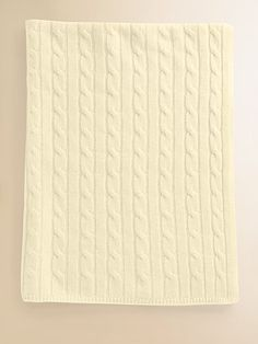 cashmere cable knit baby blanket