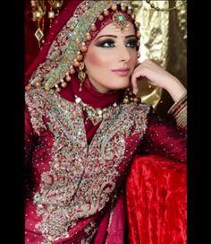 ❤️ Red #HijabiBride #SouthAsianBride இ Hijabi South Asian Brides