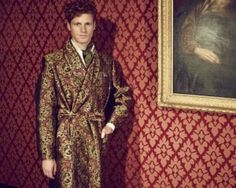 Silk dressing gown, by New and Lingwood