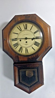 Vintage DA REGULATOR Clock Wall Clock School House Clock Oak Wind