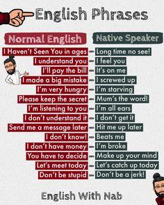 English Sentences, English Phrases, Learn English Grammar, Learn English Words, English Idioms, English Learning Spoken, English Language Learning, Interesting English Words, Good Vocabulary Words