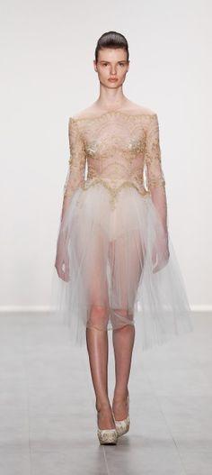 DEU: Irene Luft Show - Mercedes-Benz Fashion Week Spring/Summer 2015  Sheer dress! http://mbfashionweek.com/gallery/deu-irene-luft-show-mercedes-benz-fashion-week-springsummer-2015
