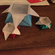 Origami star boxes