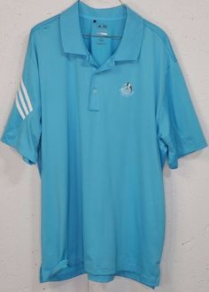 Adidas PureMotion CoolMax Butler National Mens Blue Short Sleeve Polo Shirt XL #adidas #PoloRugby