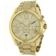 Michael Kors Bradshaw Gold-Tone Chronograph Women's Watch, MK5605, Gold
