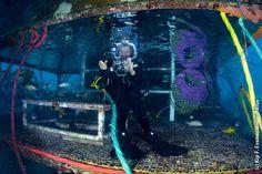 Sylvia Earle emerges from Aquarius Habitat. July 2012