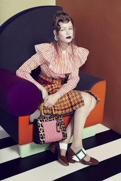 Hollie May Saker for Numero Tokyo September 2015 - Miu Miu Fall 2015 #pixiemarket #fashion #womenclothing @pixiemarket