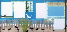Scrapbook Page Kits 12x12 Vacation themed layouts Lilly Pad Pages