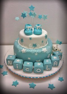 Baby Shower ~ Boy ~ Desserts ~ Cake by bertha Baby Shower Cakes For Boys, Baby Shower Desserts, Boy Baby Shower Themes, Baby Boy Shower, Shower Party, Baby Shower Parties, Cupcakes Decorados, Shower Bebe, Baby Party