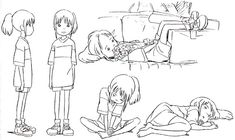 Image result for ghibli character turnaround