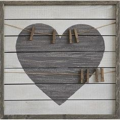 Wood Framed Picture Collage with Clips