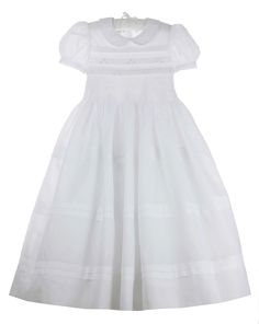 d9cc75de41d NEW Marco   Lizzy White Cotton Batiste Dress with Smocking