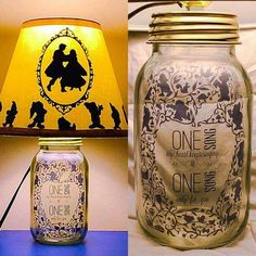DIY mason jar lamps #Disney