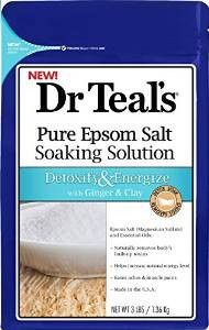 Dr Teals Detoxify and Energize Pure Epsom Salt Soaking Solution with Ginger and Clay, 3 lbs