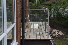 Glass balcony with stainless steel handrails #metalwork #balcony #glass  #rekkverk #metall   #rustfritt stal #glass_rekkverk #balkonger