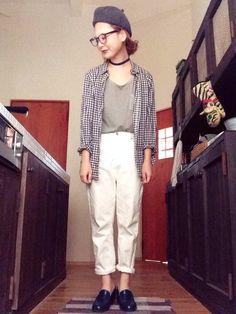 よちハンチング・ベレー帽「BEAMS BOY CABLE×ROBERT idea / ウールベレー」Styling looks Geek Chic, Gingham, Beams Boy, Normcore, Suits, Lady, Womens Fashion, How To Wear, Closet