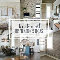 Ideas for how to add architectural interest by incorporating a brick wall into your home, through brick veneer, faux brick, brick back splash or more.