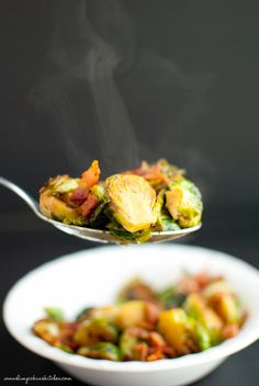 Apple Cider Glazed Brussels Sprouts * Slim Pickin's Kitchen #cleaneating #paleo