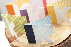 monogrammed cards: such an awesome idea!!