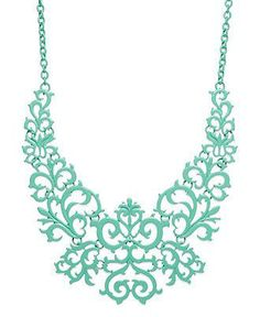 Get your look in mint condition with a lace design necklace from Bar III