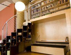 Beautiful library loft