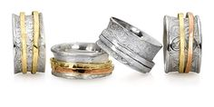 Meditation Rings  Spinning band rings in sterling silver and sterling silver with gold.