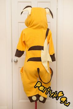 * `★・*☆` ・☪☽ • PARTY kigu x Raichu • * `★・*☆` ・☪☽ THIS KIGURUMI IS MADE TO ORDER! For when you want to look kawaii from the room party to the hotel lobby, Party kigus are the best choice of party wear! All Kigurumis are made with love, usually under the influence, and with some stuffing (either in the ears or tail) for when you black out & pass out, so you get a bit of comfortable wherever your head might fall. ••• Please wear your Kigu responsibly and try not too spill too many jeager…