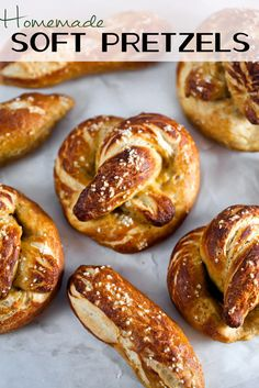 Make perfect soft pretzels at home. These taste just like the ones you'd get at a baseball game! #recipe