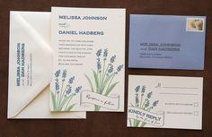 Lavender Wedding Invitation Suite by paperfishdesignsLLC on Etsy