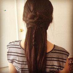 Beautiful and intricate braided ponytail hairstyle