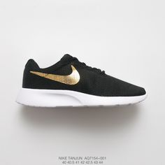 2aeaa9d90a8 Rosherun Nike Tanjun Mesh Breathable London Olympics Trainers Shoes Mens  Black Gold