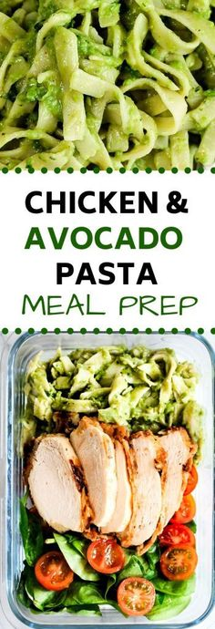 decided to make a creamy delicious avocado pasta and it paired with crispy buttermilk chicken (and some veggies as always). The avocado pasta and crispy chicken went so well together and it is also made a great meal prep option. Avocado Recipes, Lunch Recipes, Seafood Recipes, Pasta Recipes, Chicken Recipes, Healthy Recipes, Avacado Meals, Healthy Snacks, Chicken Avocado Pasta