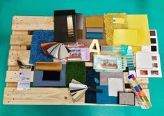 Material board including Formica Laminates by New Purpose: inspiration for a new #officedesign for Joylent  http://ift.tt/2gLFTWu