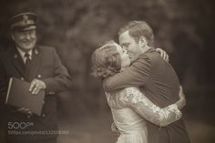 #nancyavon from www.bit.ly/jomfacial Sharing a light moment with your love dear! Kissing the bride by skuliorn