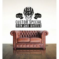 Visual Think Custom Special Mc16 Iron & Wheels Wall Stickers, available on Ferro29 Online Store.