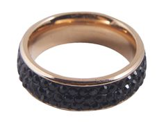 @knittedbelle #knittedbell  Lucky Star Alex Ring - Copper/Jet, Silver/Crystal