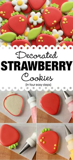 Decorated Strawberry Cookies  FoodBlogs.com
