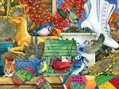 Autumn Birds & Squirrels (336 pieces)