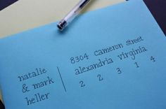 A pretty way to address envelopes for your invitations