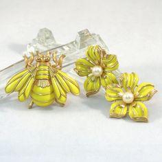 Vintage Crown Trifari Bumble Bee Brooch and by VintageCreekside, $58.00