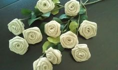 Burlap Flowers Set of 20  / Table Decoration  by AJRUSTICCREATIONS, $20.00
