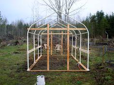 Carport frame for chicken coop