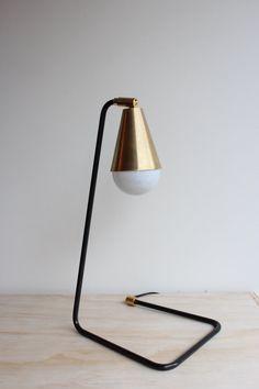 Signature Steel and Brass Desk/Table Lamp by JonesCountyRoad